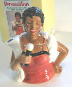 Jazz Singer Teapot Lady Toby Style Personaliteas Fitz And Floyd Omnibus 1994 Nos