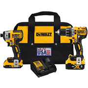 20-volt Max Xr Cordless Brushless Hammer Drill/impact Combo Kit 2-tool With 1