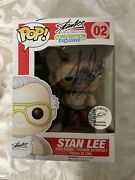 Funko Pop 02 Stan Lee Signature White Shirt 2014 Exclusive Signed By Stan Lee