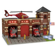 Fire Station No 9 Building Accessory W/ Animation O Gauge Scale House