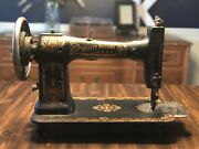 Vintage Antique White Rotary Treadle Sewing Machine 1900-1911