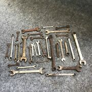 30 Vintage Usa Wrench Lot Snap On - Williams - Bluepoint- Combination - Etc.
