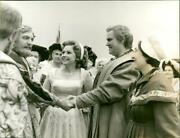 Eva Takes Dream Walthers Forehead And Puts Him - Vintage Photograph 4253765