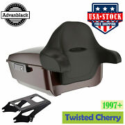 Twisted Cherry King Tour Pak Pack Trunk Luggage For 97+ Harley Flhr Flhxs Fltrx