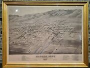 Carson City Virginia And Truckee Rr Nevada Ormsby County 1875/1972 Lithograph