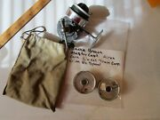 Vintage Airex Bache Brown Mastereel Model 3 Half Bail Spinning Reel Lionel Corp