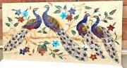 4'x2' Marble Coffee/dining Table Top/ Wall Panel ,peacock Design Inlaid Table