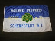 Vintage 60 X 35 Mohawk Pathways Girl Scouts 21 Schenectady Ny Flag Banner