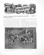 Old Print French Furniture Period Louis Xiv Part Ii Tapestrypages 1905