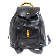 Secondhand Mini Bamboo Backpack Day Pack Women And039s Black Razor 2265