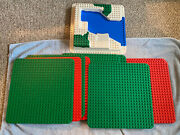 Genuine Lego Duplo 22 X 22 Peg Green Base Plates Lot Of 11 Red Green Water Park