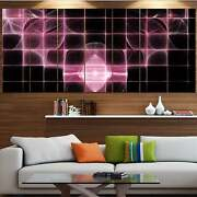 Designart And039pink Bat Outline On Radarand039 Abstract Wall Art On Oversized