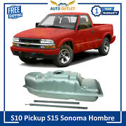 New Fuel Gas Metal Tank With Straps 18 Gallon For S15 Sonoma Hombre S10 Pickup