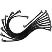 Msd 35591 Sleeved Spark Plug Wires For Sbc Under Exhaust, Hei
