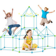 85pcs Fort Toys For Boys Girls, Diy Building Playhouse Castle Tunnel Play Tent
