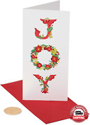 Papyrus Christmas Boxed Cards With Gift Card Holder, Holiday Joy Wreath 16-coun