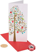 Papyrus Holiday Cards Boxed With Christmas Gift Card Holder, Tree 16-count