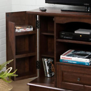 Laguna 42 In. Traditional Brown Composite Tv Stand With 1 Drawer Fits Tvs Up To
