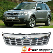 Fits 2011 2012 2013 Subaru Forester Chrome Front Upper Bumper Grille Grill