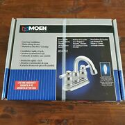New Unopened Moen Two-handle High Arc Bathroom Faucet - Chrome 84781