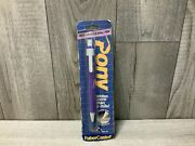 Vintage Faber Castell Pony Purple Retractable Ball Point Pen Blue Ink New 1980s