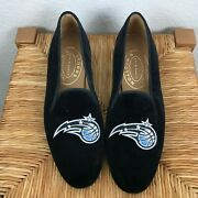 Stubbs And Wootton Orlando Magic Black Velvet Slippers Loafers Shoes Womenand039s 9.5