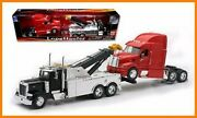 New Ray Toy 1 32 Scale Peterbilt Tow Truck With Red Peterbilt Cab Semi Truck