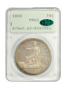 1880 Trade Pcgs/cac Pr 62 Ogh Rattler Holder Scarce Proof-only Trade Dollar