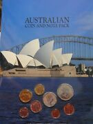 Australian Coin And Note Pack - 1c - 2 Decimal Coins And 1, 2 Notes