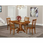 Avml5-sbr-c 5-pc Dining Room Set-oval Dining Table And 4