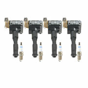 Bosch 4 Ignition Coils 4 Double Platinum Spark Plugs Kit For E30 318i 318is M42
