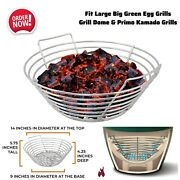 14 Large Stainless Steel Charcoal Ash Basket Fits Big Green Egg Grill Smoke Bbq