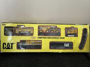 1992 Toy State Cat Caterpillar Construction Express Train Set And Track Tested