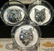 Multifaceted Animal Heads Canada 2019 Complete 3-coin Set