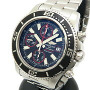 Breitling Super Ocean A110b81prsa13341 Watches Stainless Steel/leather Me...