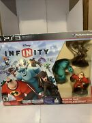New Disney Infinity For Ps3 Starter Pack Incredibles Monster Inc. Jack Sparrow