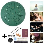 12 Steel Tongue Drum Handpan Drum 13 Notes Gn Meditation With Bag Music Book Ep
