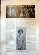 Antique Old Print She Stoops To Conquer Lena Ashwell Heir At Law Waldorf 1906