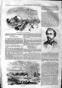 Original Old Antique Print 1859 Derby Racecourse Horses Sport Thorpe Feed 19th