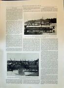 Old Print 1897 Benin Expedition War-canoe Chief Dore Native Chiefs Sapele 19th