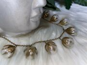 Miriam Haskell Early Ultra Rare Pools Of Light Chinese Chi Necklace Art Deco B14