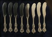 Reed And Barton/8 Sterling Silver Butter Knives/marlborough Pattern/no Monogram