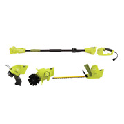 4.5 Amp Electric Lawn And Garden Multi-tool System Hedge/pole Trimmer Grass Tri