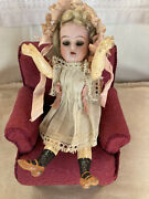 Antique 7andrdquo Bisque Head Sandh Kstarr Compo Body Doll With Sleep Eyes