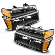 Pair Headlights Assembly For 2004-2012 Chevy Colorado/gmc Canyon Set Lamps