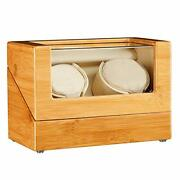 Jqueen Watch Winder For Automatic Watch Quiet Japanese Mabuchi Motor Bamboo