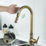 Kitchen Faucets Touch Control Pull Out Antique Bronze Crane Hot Cold Mixer Tap