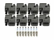Bosch 8 Ignition Coil And 8 Platinum Spark Plugs Kit For Mercedes R129 5.0l V8 Rwd