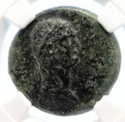 Domitian Authentic Ancient 89ad Antique Old Roman Coin Cilicia Tyche Ngc I95578