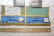 Peacock Pic-test Indicator Lot Of 2 Used .015-0-.015 .0005 Grad With Boxes